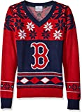 MLB Womens Big Logo V-Neck Sweater