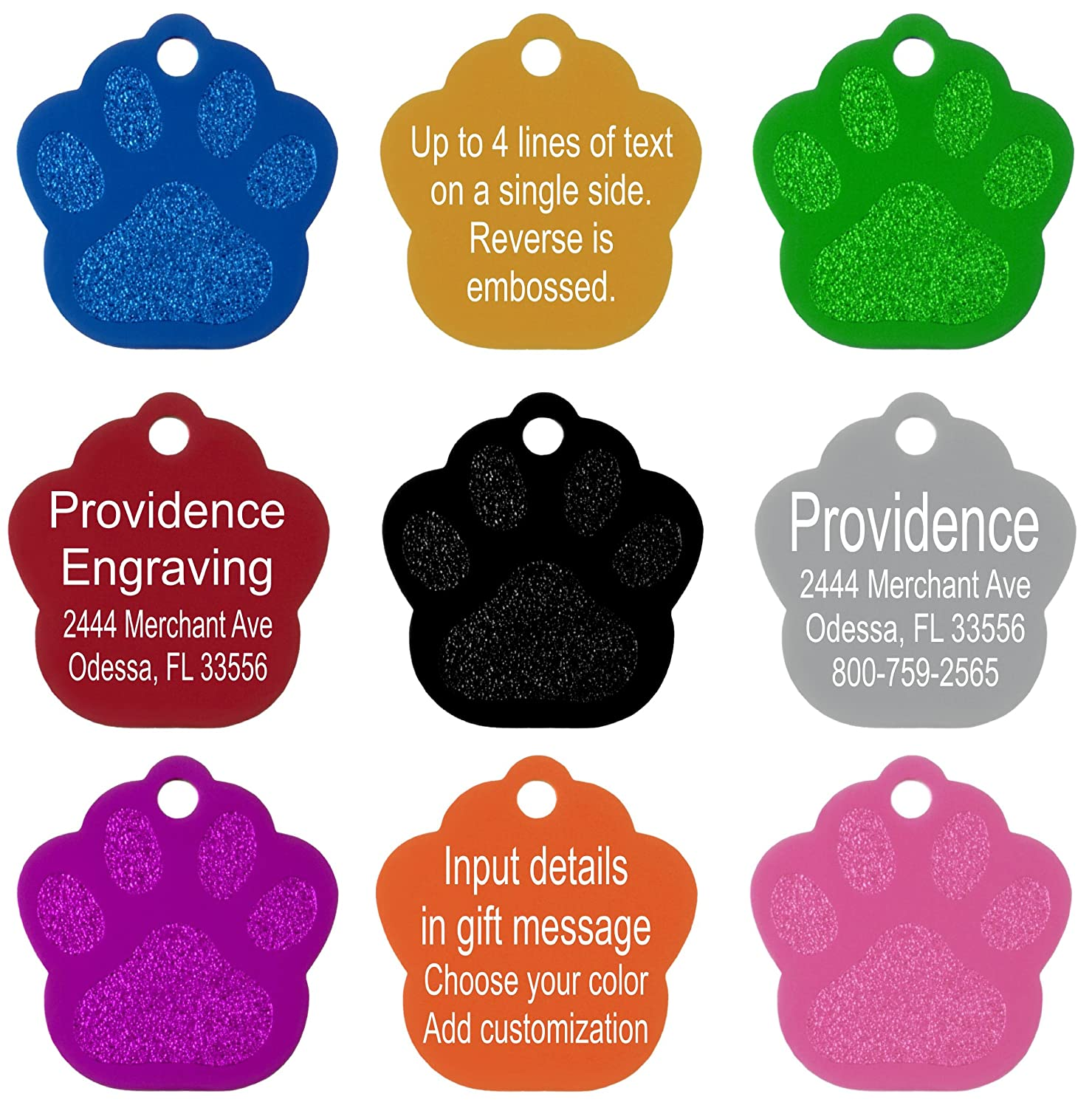 Amazon.com : Providence Engraving Aluminum Pet ID Tags for Cat and ...