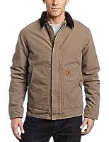 Carhartt Men's Big & Tall Sherpa Lined Sandstone Dearborn Jacket