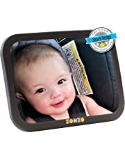 Baby Car Mirror for Back Seat   View Rear Facing Infant in Backseat   Securely Fasten with Double Strap   Pivot Joint to Easily Adjust to Desired Viewing Angle …