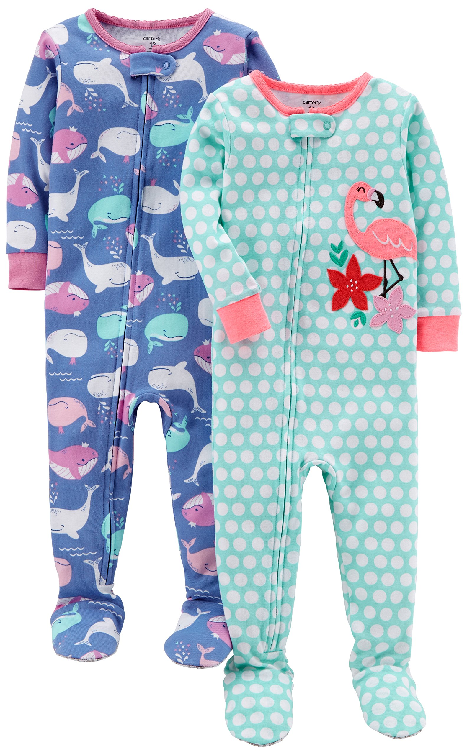 Carter's Girls' 2-Pack Cotton Footed