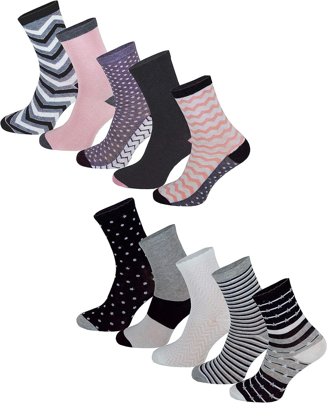 Premium Socks Lot de 10 paires de chaussettes /à motifs animal avec paillettes pour le travail de loisirs Taille 35-38 ou 39-42