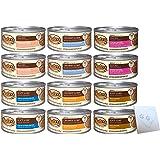 NUTRO Wet Cat Food Variety Bundle - Six flavors: Chicken, Salmon & Tuna,