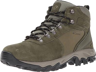 Columbia Newton Ridge Plus II Trekking-Schuhe wasserfeste Wander-Schuhe Schwarz