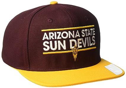 4142c8f7f0d adidas NCAA Arizona State Sun Devils Adult Men Dassler Flat Brim Snapback
