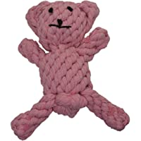Zenify Puppy Toy Cotton Rope Bear Chew - for Small to Medium Pet Teething Plush Dog Owners