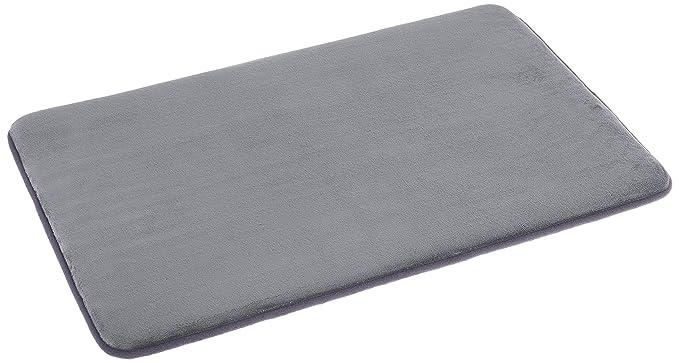 AmazonBasics Non-Slip Memory Foam Bathmat 18 x 28, Gray