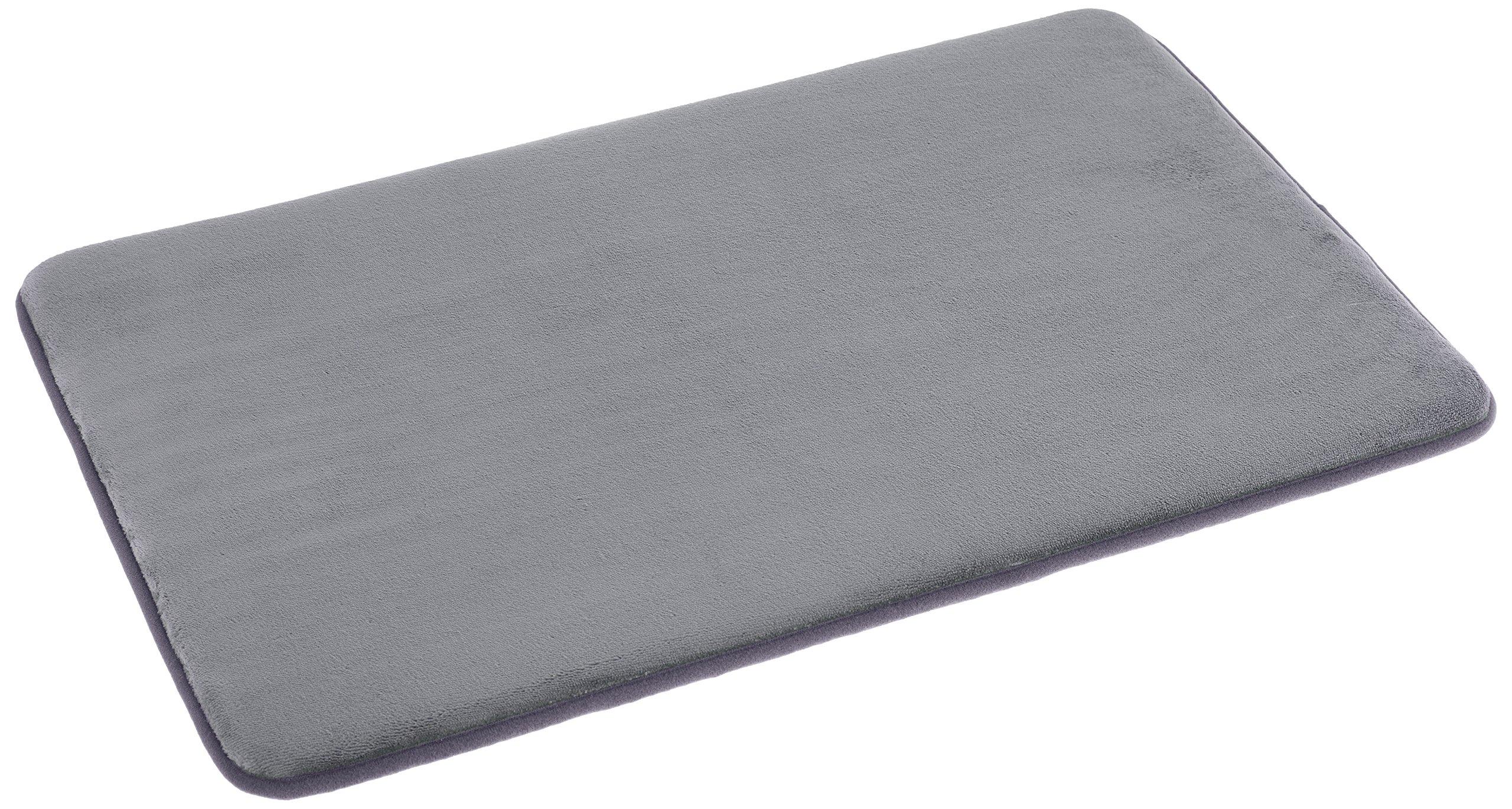 AmazonBasics Non-Slip Memory Foam Bathmat 18'' x 28'', Gray by AmazonBasics