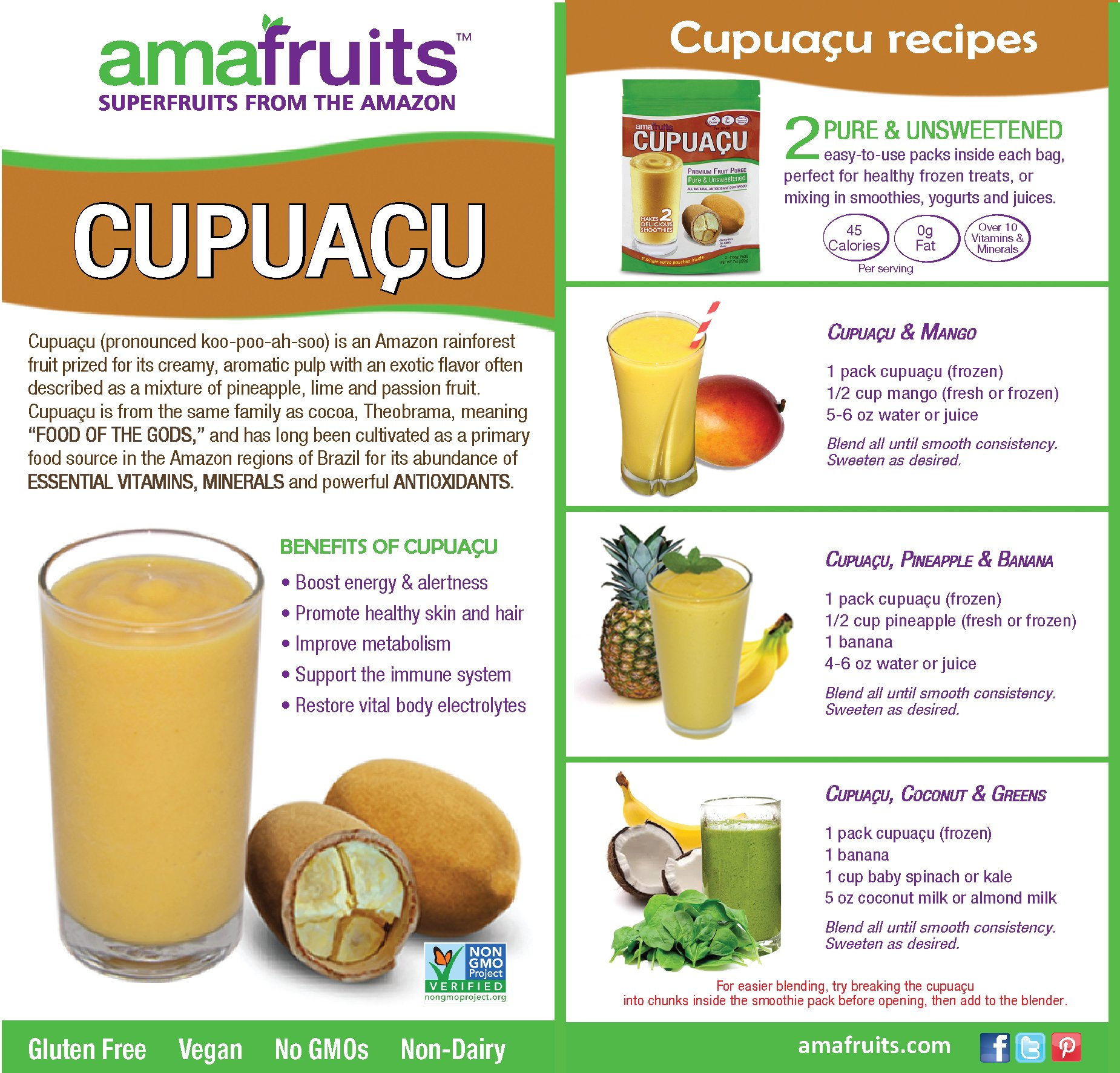 Amafruits Cupuacu Pure & Unsweetened by Amafruits (Image #5)