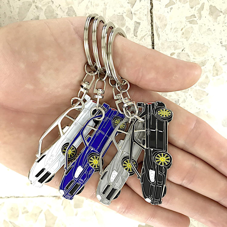 Chrome Metal tag Impreza WRX Key Chain for car Accessories Replica. White Enamel