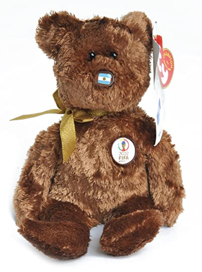 Ty Beanie Baby Champion Bear Argentina 2002 Fifa World Cup Soccer by Ty by Ty