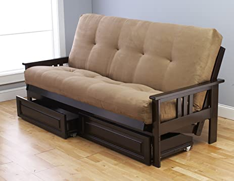 Amazon Queen or Full Size Excelsior Espresso Futon Frame w