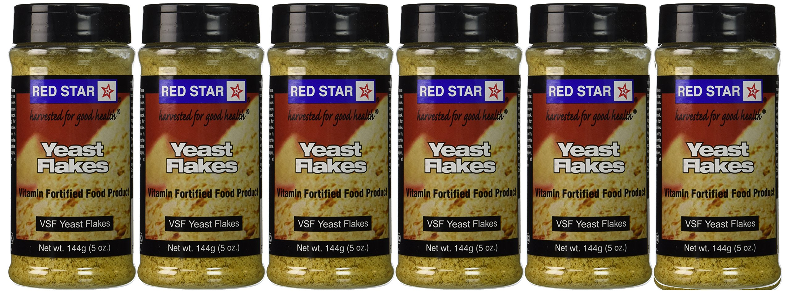 Red Star Nutritional Yeast - VSF Mini Flake -- 5 oz Each (Pack of 6) by Red Star Yeast