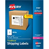 Avery Shipping Address Labels, Laser Printers, 100 Labels, Full Sheet Labels, Permanent Adhesive, TrueBlock (5165…