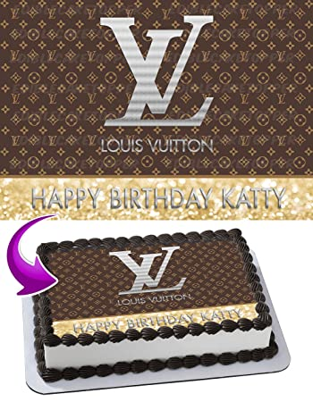 Louis Vuitton Edible Image Cake Topper Personalized Birthday 1 4 Sheet Decoration Custom Party