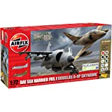 Airfix 1:72 Dogfight Doubles Douglas A4-b and Harrier Frs1 Military Aircraft Gift Set