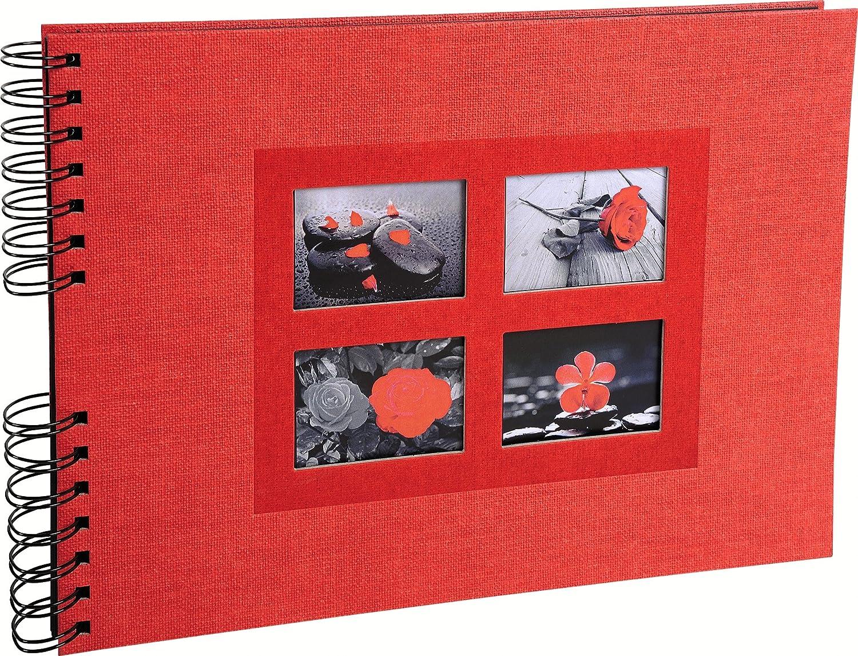 32 x 22 cm 50 Pages Noires Capacit/é 100 Photos 16351E R/éf Noir Album Photos /à Spirales Sweet Colours Exacompta