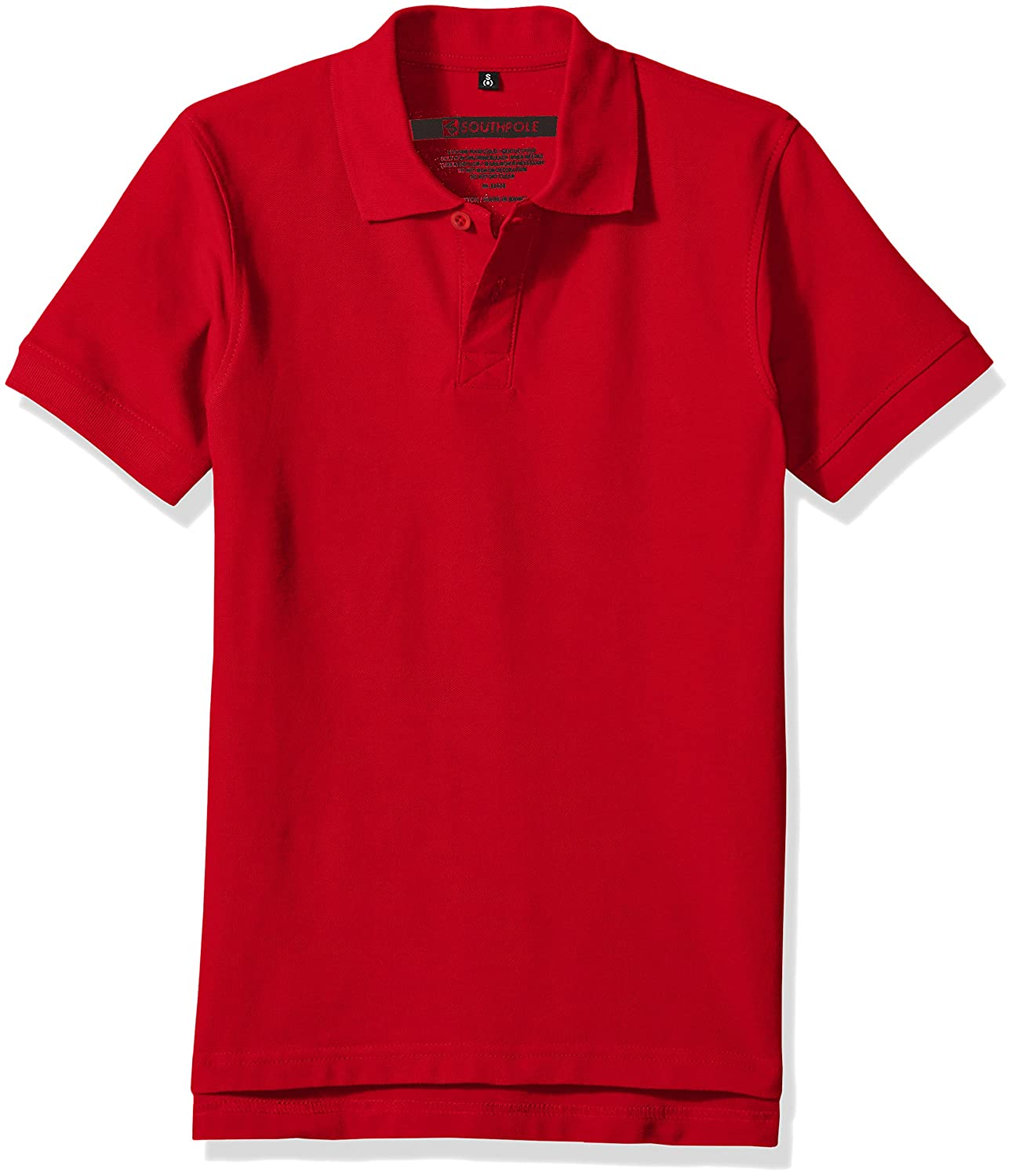 Southpole Boys' Big Classic Short Sleeve Solid Polo Shirt