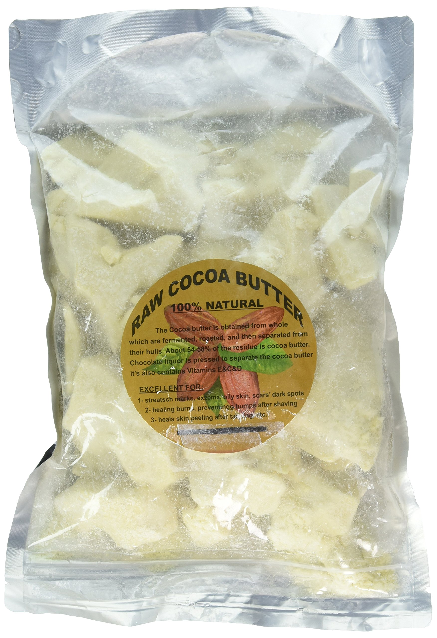 Raw PRIME & PURE Cocoa Butter 100% Fresh (2 LB)