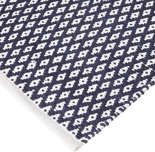 Safavieh Boston Collection BOS685D Handmade Navy Cotton Area Rug 5' x 8'