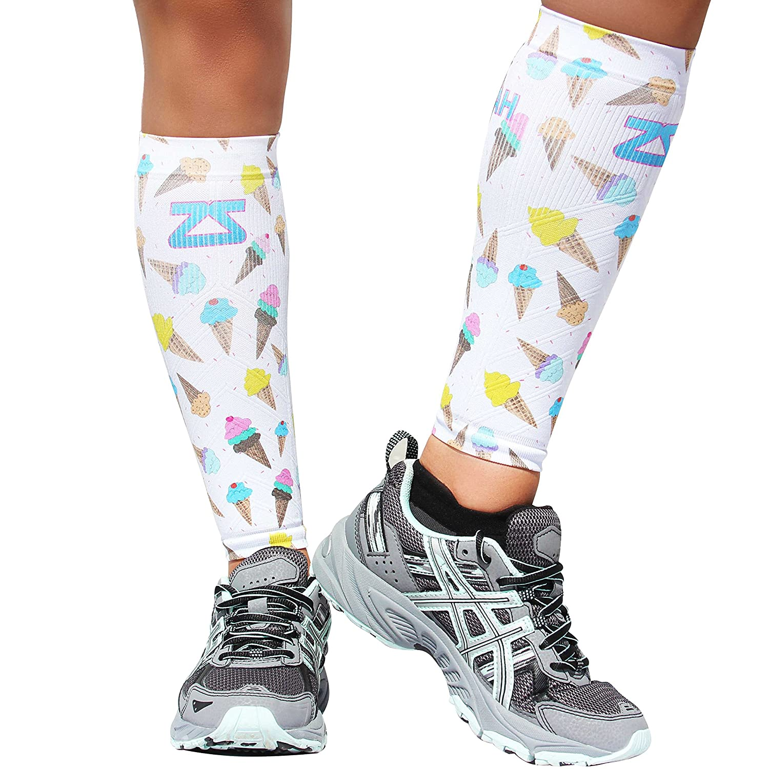 Zensah Compression Leg Sleeves – Helps Shin Splints, Leg Sleeves for Running 6055