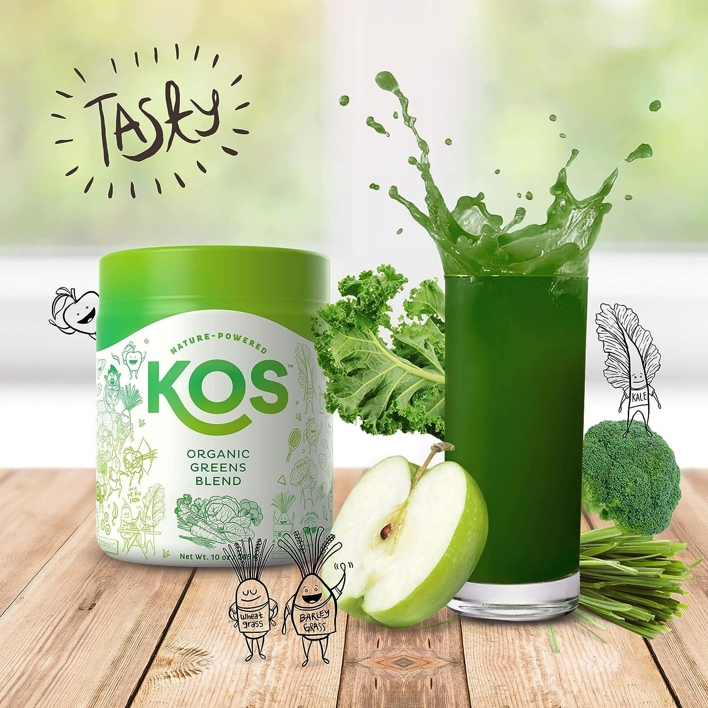 Amazon.com: KOS - Mezcla de verdes orgánicos con sabor ...
