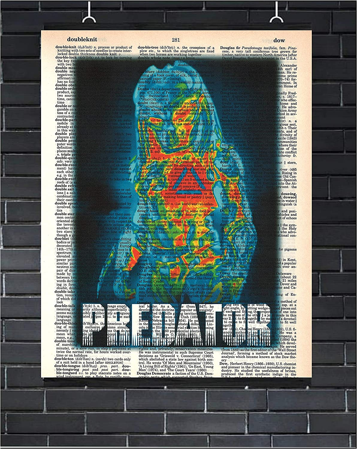 Predator Movie Poster Sci-Fi Wall Decor Predator Dictionary Art Print