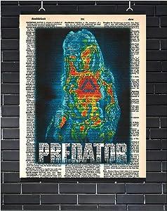 Predator Movie Poster Sci-Fi Wall Decor Predator Dictionary Art Print