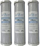 Reverse Osmosis System 10 Carbon Block Water Filter Cartridges (Box of 3) by The Water Filter Men