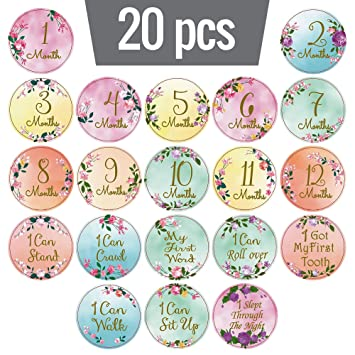 usw. Taufe - Geburt - 4 Monate - 1 Jahr 19 Stück Meilensteine für Ihr Baby