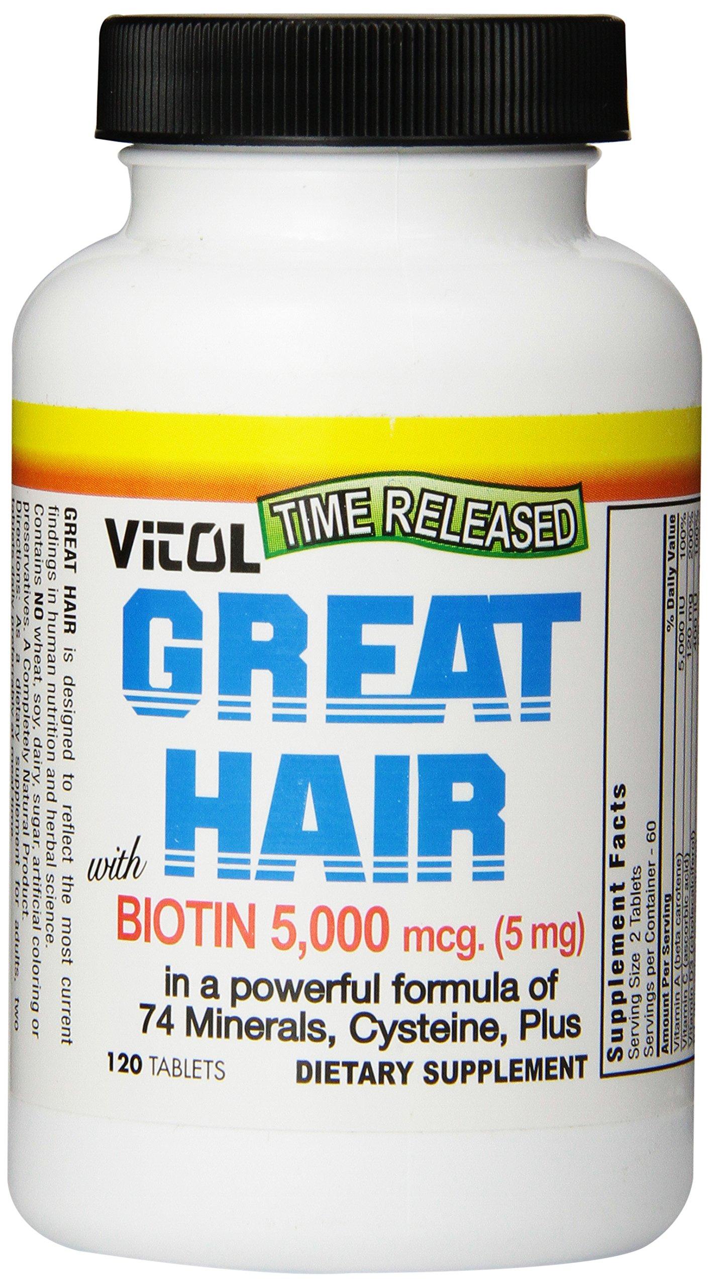 Vitol Great Hair, 120 Tabs (5mg)