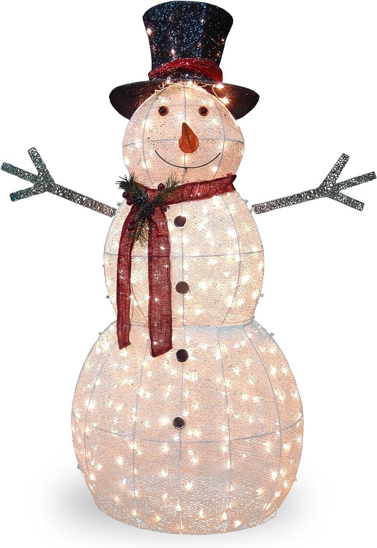 National Tree Crystal Snowman 300 Clear Mini Lights 60-Inch