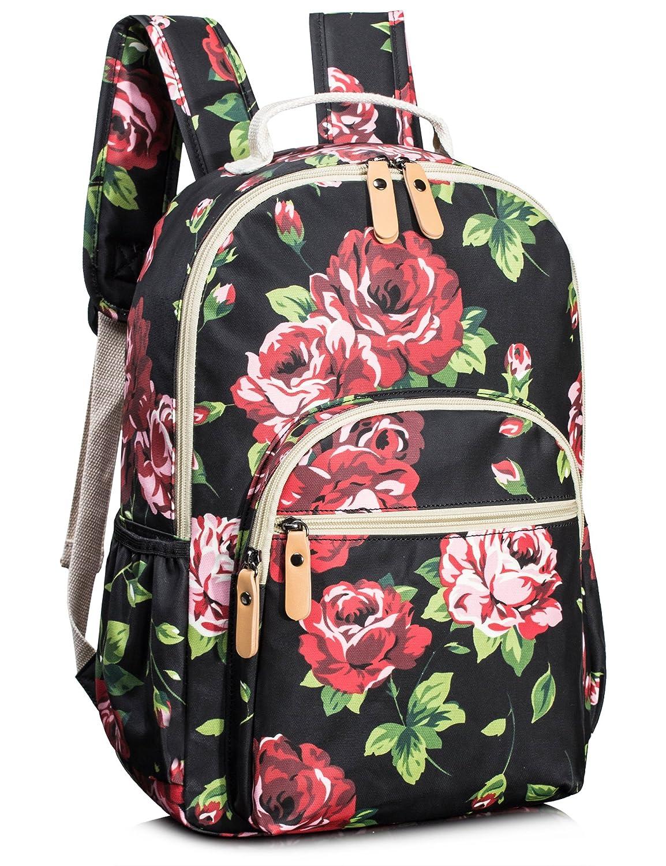 Leaper Floral School Backpack for Girls Travel Bag Bookbags for Women Satchel