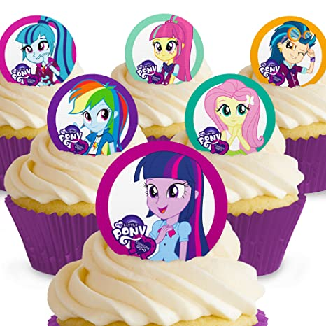 12 X Vorgeschnittene Und Essbare My Little Pony Kuchen Topper