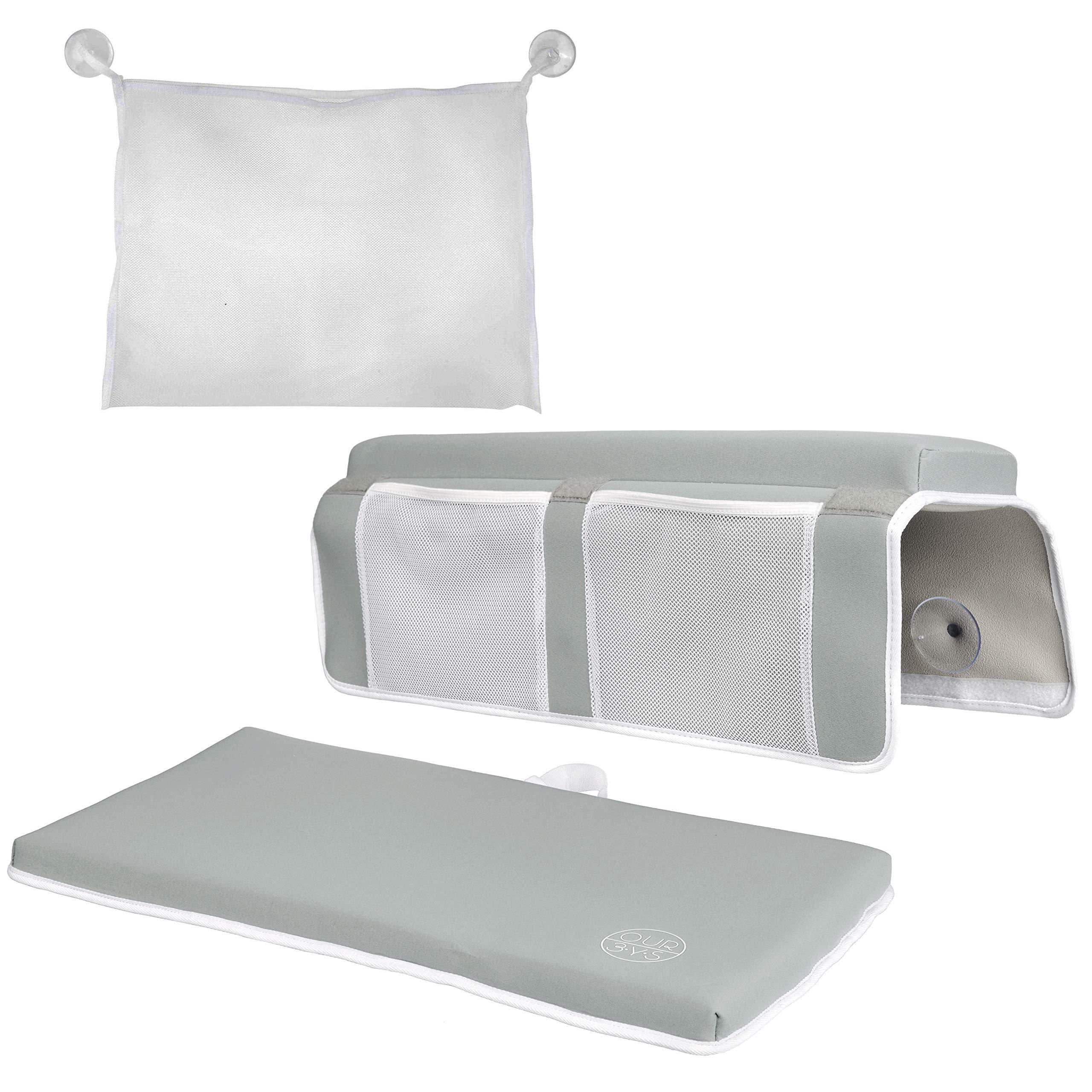 Elbow Rest & Kneeling Pad for Bathtub: Baby Bath Comfort Kneeler & Arm Cushion by OUR3YS