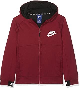Nike B NSW FZ AV15 Sudadera, Niños, Rojo/(Tough Red/Black/White), M: Amazon.es: Deportes y aire libre