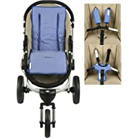 Keep Me Cosy™ Universal Pram Liner + Harness & Buckle Cosy - Classic Blue Spot