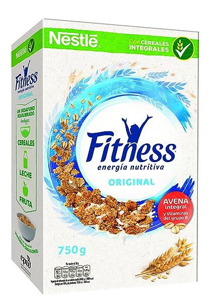 Cereales Nestlé Fitness Original - Copos de trigo integral, arroz y avena integral tostados