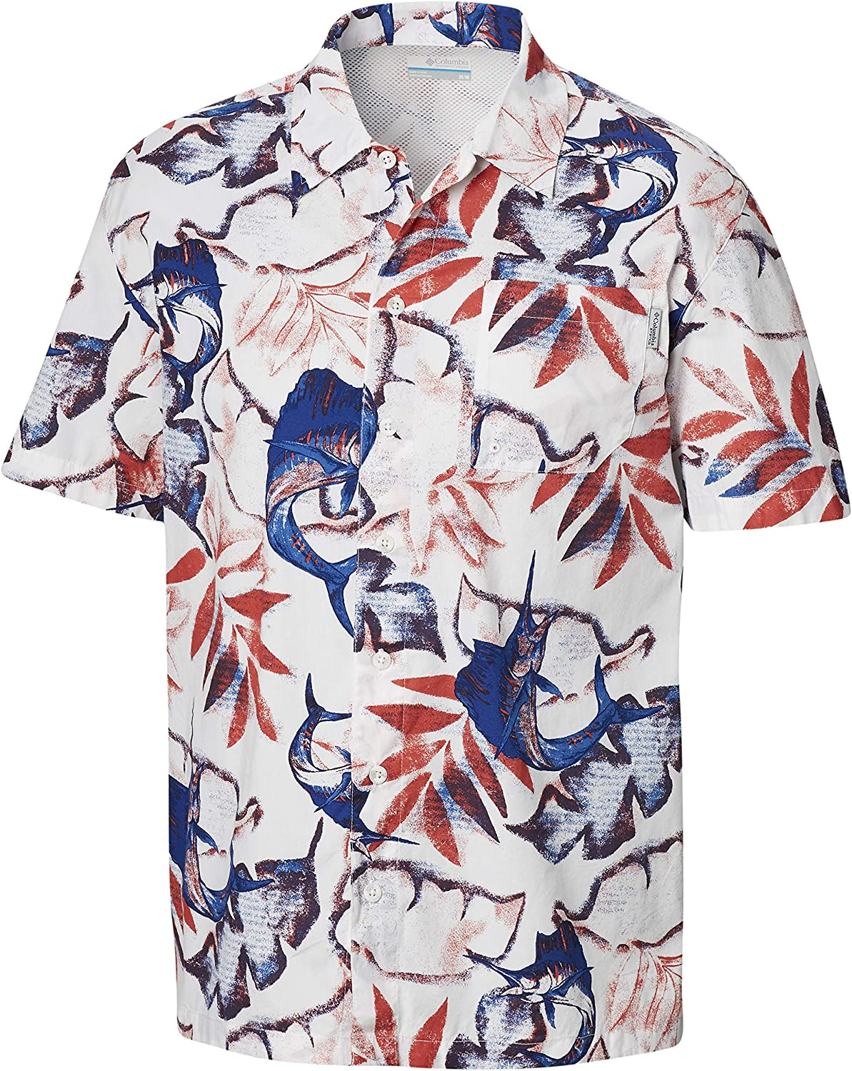 Columbia PFG Men's Trollers Best Short Sleeve Shirt, Breathable, Button-Up
