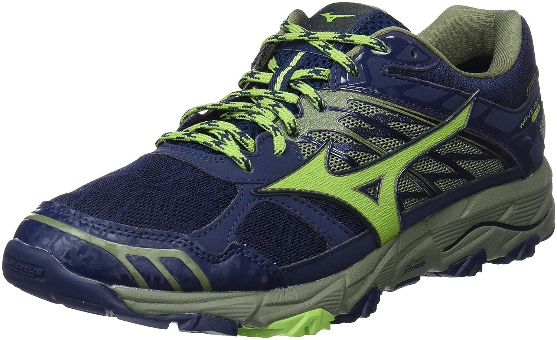Mizuno Wave Mujin 4 G-TX, Zapatillas de Running para Hombre 44.5 EU|Multicolor (Dressblues/Greenery/Olivine 36)