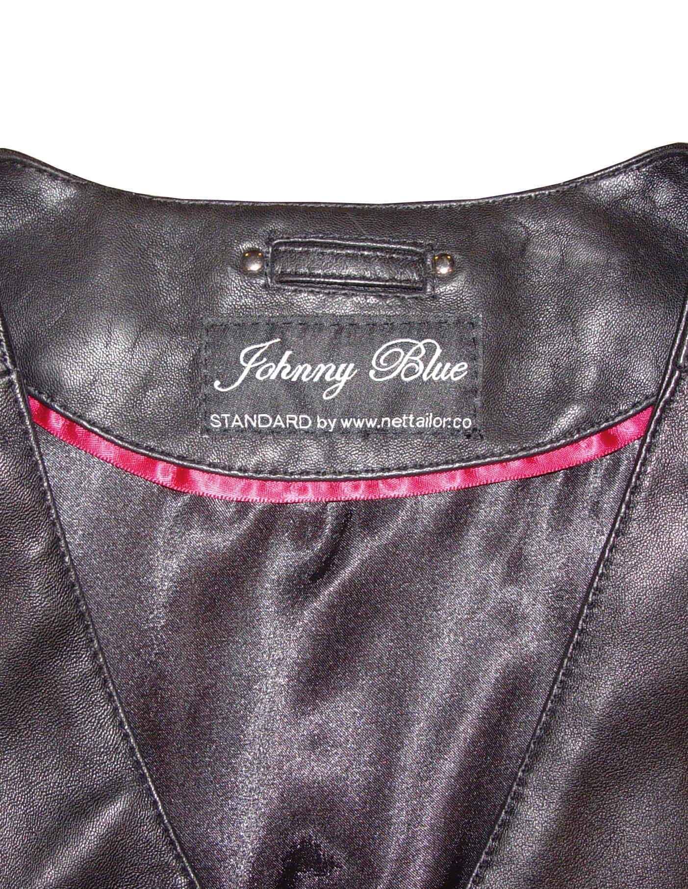 Johnnyblue 4 Season Wear Womens 5006 PETITE & ALL SIZELambskin Leather Trench Coat by Johnnyblue (Image #6)