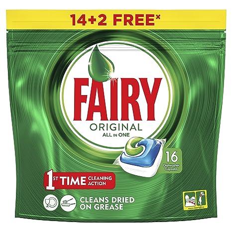 Fairy Original TodoEn1 Cápsulas de Lavavajillas - 14+2 capsulas