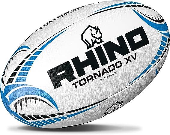 Rhino Tornado - Pelota de Rugby XV, Color Blanco, Color Blanc y ...