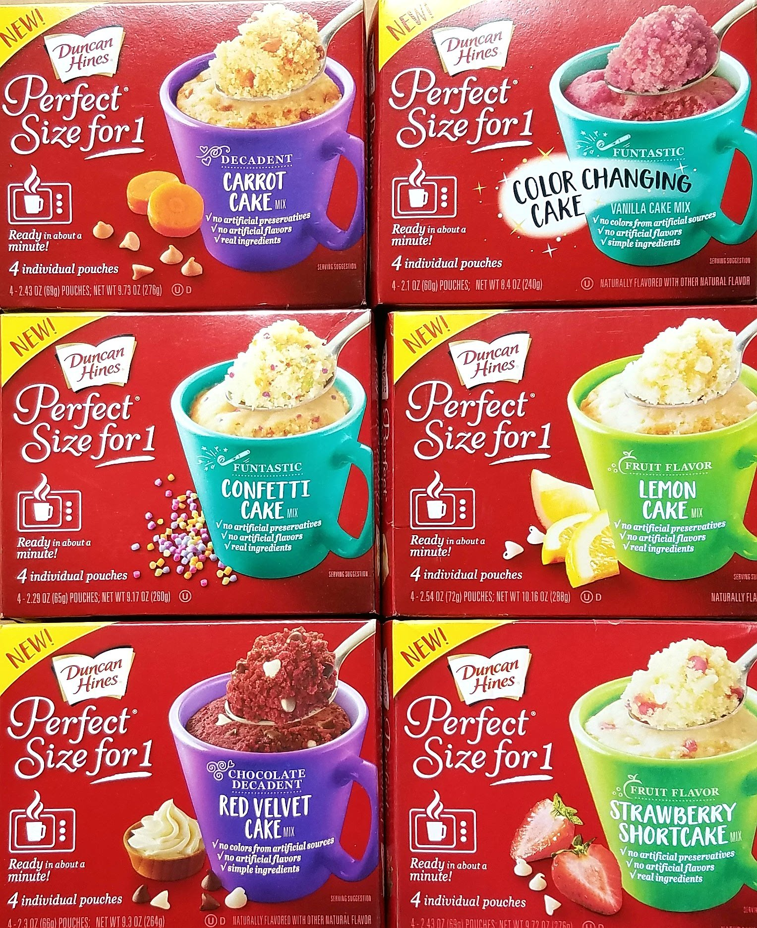 Cake Lovers Perfect Size For 1 Cake Mixes - Variety Pack Bundle of 6