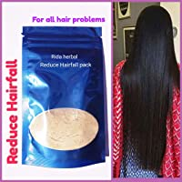 Rida Herbal ayurvedic reduce hair fall pack and mask,repair dry & damage regrowth of hair powder no dandruff for women and men no chemicals,no side effects