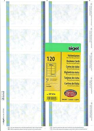 Sigel Drucken Sie Ihre Eigenen Visitenkarten Dp856 Castello