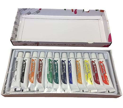 1 opinioni per Set di 12colori acrilici- tubetti da 12ml, certificazione CE, atossici