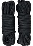 "Rainier Supply Co Dock Lines - 2 Pack 15' or 25' Premium Double Braided Nylon Dock Line/Mooring Lines with 12"" Eyelet…"