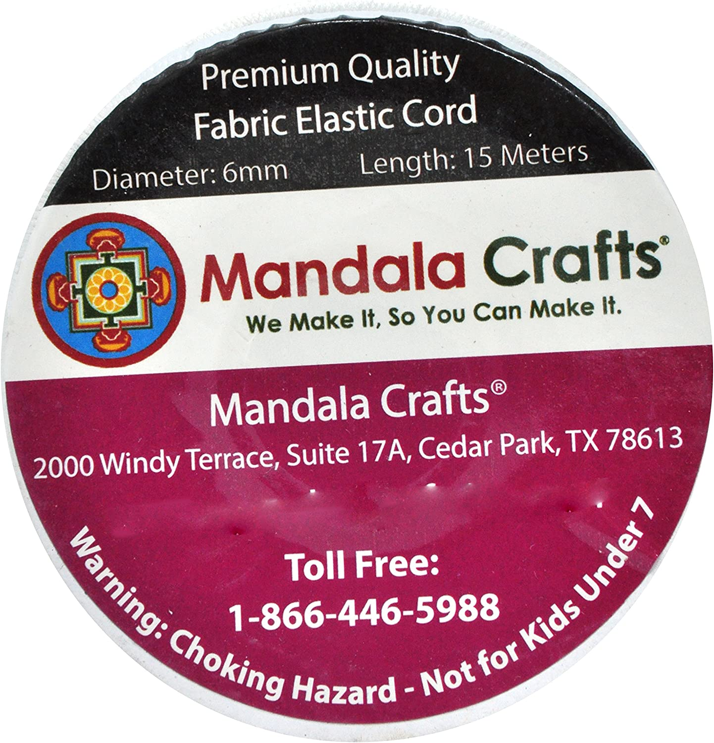 Brown Bungee Cord by the Foot Backpacks Elastic Bungee Rope Shock Cord for Kayaks Tent Poles; 1//8 Inch 3MM 164 FT Roll by Mandala Crafts