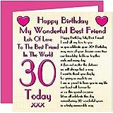 best friend 30th happy birthday gift set card keyring fridge